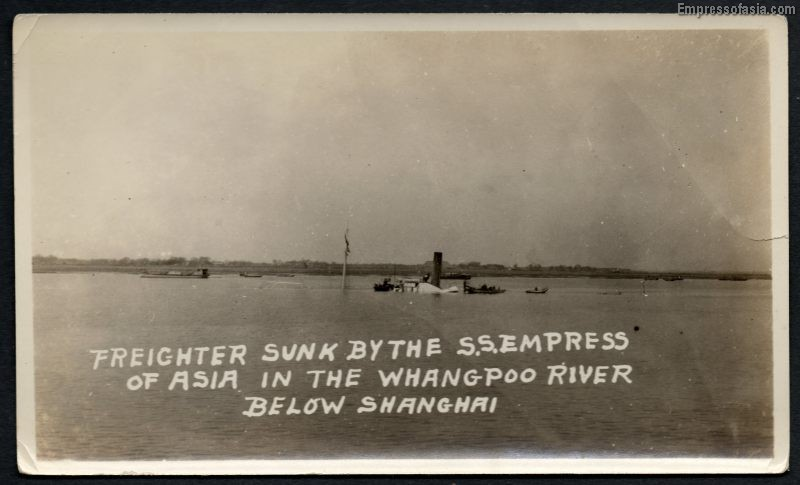 1926, January 11 Collision between TUNGSHING and the Empress of Asia.